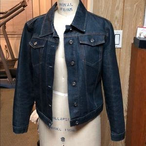 Vintage Gap factory dark denim jeans jacket Sz S